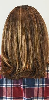 After Light Set brunette highlight application